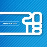 Happy New Year 2018. Cover of business diary for 2018. Vector br Stock Photos