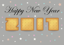 Happy New Year 2017. Crackers font stock image