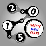 Happy new year 2015 - created as industrial wishes. With screws Stock Image