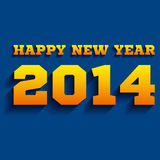 Happy new year 2014. Creative Happy new year 2014 blue background Royalty Free Illustration