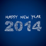 Happy new year 2014. Creative Happy new year 2014 blue background Stock Illustration