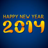 Happy new year 2014. Creative Happy new year 2014 blue background Vector Illustration