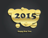 Happy new year 2015 creative card design. Vector illustration stock illustration