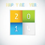 Happy New Year 2014. Creative Happy New Year 2014 celebration vector Royalty Free Stock Photo