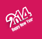 Happy New Year 2014 creative colorful background.  Royalty Free Stock Photography