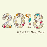 2018 Happy new year creative design background. Happy new year. Calligraphic text Royalty Free Stock Photography