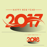 2018 Happy new year creative design background. Happy new year. Calligraphic text Stock Images