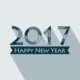 Happy New Year 2017. Creative happy new year 2017 design. EPS 10 vector illustration for design. All in a single layer. Vector illustration. Long shadow design Royalty Free Stock Photo