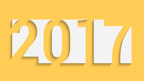Happy new year. Happy new 2017 year. Creative design. Vector illustration for your design Stock Photo