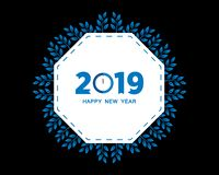 2019 Happy New Year creative design for your greetings card, flyers, invitation, posters, brochure, banners, calendar. Vector illu. Stration eps 10 royalty free illustration