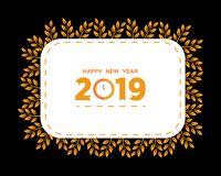 2019 Happy New Year creative design for your greetings card, flyers, invitation, posters, brochure, banners, calendar. Vector illu. Stration eps 10 vector illustration