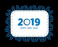 2019 Happy New Year creative design for your greetings card, flyers, invitation, posters, brochure, banners, calendar. Vector illu. Stration eps 10 stock illustration
