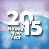 2015 Happy New Year. Creative Fresh Design Stock Images
