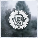 Happy New Year. Creative graphic message for Royalty Free Stock Images