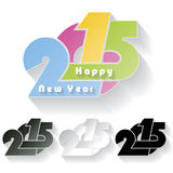Happy new year 2015 creative greeting card. Design Stock Photo