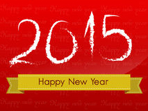 Happy new year 2015. Creative greeting card design Stock Image