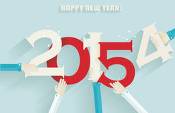 Happy new year 2015 creative greeting card Royalty Free Stock Image