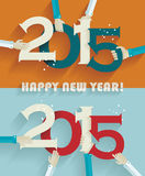 Happy new year 2015 creative greeting card. Design Stock Images