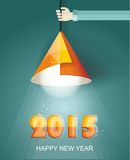 Happy new year 2015 creative greeting card Stock Photography