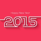 Happy new year 2015 creative greeting card design Royalty Free Stock Photography