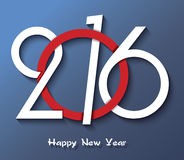 Happy new year 2016 creative greeting Royalty Free Stock Images