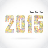Happy new year 2015 creative greeting card design on background Royalty Free Stock Photography