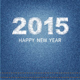 Happy new year 2015 creative greeting card design denim Royalty Free Stock Images