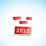 Happy new year 2015 creative greeting card design Stock Images