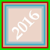 Happy new year 2016 creative greeting card design Stock Image