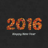 Happy new year 2016 creative greeting card design Stock Photo