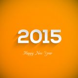 Happy new year 2015 creative greeting card design Stock Photos
