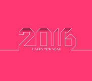 Happy new year 2016. Creative greeting card design. Universal background Stock Photography