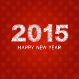 Happy new year 2015 creative greeting card design Stock Image
