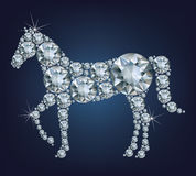 Happy new year 2026 creative greeting card with Horse made up a lot of diamonds Royalty Free Stock Photography