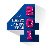 Happy new year 2014. Creative happy new year 2014 greeting design vector illustration