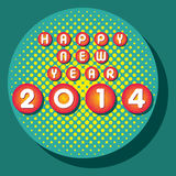 Happy new year 2014. Creative happy new year 2014 greeting design Stock Photography