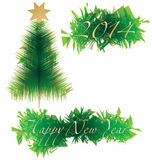 Happy New Year 2014. Creative Merry Christmas illustration for 2014 royalty free illustration