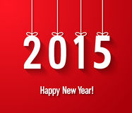 Happy new year 2015 creative paper greeting card. Royalty Free Stock Photo