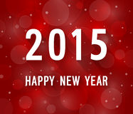 Happy new year 2015 creative paper greeting card. Royalty Free Stock Images