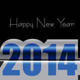 Happy New Year creative 2014 text colorful. Illustration Royalty Free Illustration