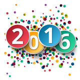 Happy new Year 2016 ctemplate background Stock Photography