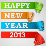 Happy New Year curled strips. Eps10 vector illustration Royalty Free Stock Images