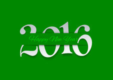 Happy New Year 2016 Cut from Paper. Green Background, Vector Illustration vector illustration