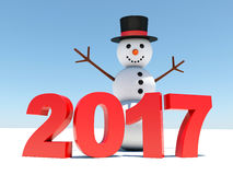 2017 happy new year Stock Images