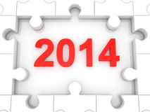 Happy New Year 2014. 3d royalty free illustration