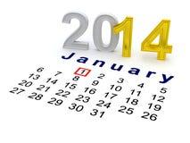 Happy New Year 2014. Royalty Free Stock Photo