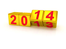 Happy New Year 2014. 3d Royalty Free Stock Photo