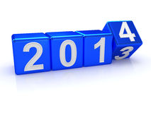 Happy New Year 2014. 3d Stock Image