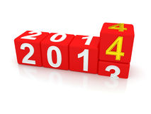 Happy New Year 2014. 3d stock illustration