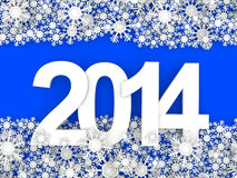 Happy New Year 2014. 3d vector illustration
